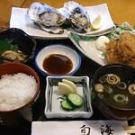 旬海 - 旬海 @松島海岸 牡蠣御膳 2,100円  牡蠣の殻ははずしました