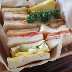 司馬遼太郎記念館 カフェコーナー - サンドイッチセット
