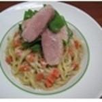 スパゲッティ食堂ドナ - ≪フェットチーネ≫ロースト鴨とルッコラのポルチーニクリーム