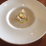 ラキュイエール - 2013年11月13日のランチの前菜「ゴボウの冷製ポタージュ」