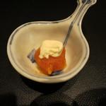 みや - 25年11月 サーヴィス 自家製生唐墨とクリームチーズ