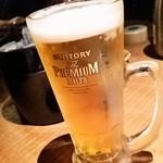 焼味尽本舗 - ビールは、ザ・プレミアムモルツ