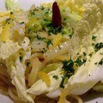 AWkitchen OSAKA 大阪あべのハルカス店 - 白菜&ジャコのペペロンチーノ