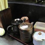 22550910 - お好みで卓上のポン酢・ニンニク醤油・柚子胡椒・一味をつけても美味しいです。