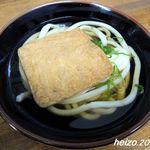 松乃家生麺 - かけ+お揚げ