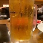 但馬屋 八重洲店 - 生ビール(480円)