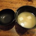 天ぷら処 夢風 - 味噌汁