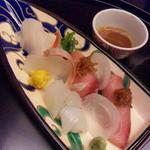 22562276 - 造り:くえ/烏賊/鰤寿司