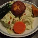 焼肉モリタ屋 - 『モリタ屋コース』の『ミニ焼き野菜』~!『ミニサラダ』か『ミニ焼き野菜』か選べる~♪(^o^)丿