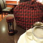 青山ティーファクトリー - ティーコジー、茶こし・砂時計