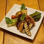 テテス - 三元豚肩ロース肉の網焼き