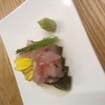 リナトキッチン - 真鯛の昆布〆