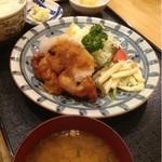 22567079 - 鶏の照り焼き定食