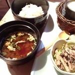 オルソ・デル・ボスコ森のくまさん - 和食セットは雑穀米と赤出汁付