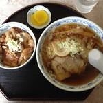 西十和田 - ラーメンミニバラ焼き丼