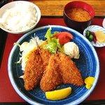 ふじみや - お食事処 ふじみや @佐野 あじフライ定食 720円