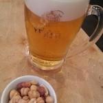 恋酒場 - 乾き物とビールだお( ゚∀゚)ダオ