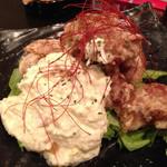 呑ませ屋 しん太 - 若鶏の竜田揚げ(自家製タルタルソース)