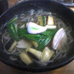 柚子の木 - 鴨なんばソバ(850円)