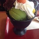 嵐山さくら餅 稲 - 抹茶パフェ