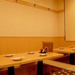 田うち - 掘りごたつのテーブル席 12名様のお席になります