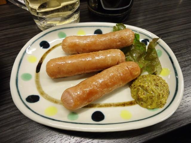 焼鳥日高 日暮里東口店 - 【再訪】「ウインナー焼き」160円也。