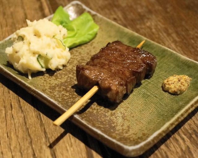 日南 - 2013.11 牛ハラミ串焼(1串700円)