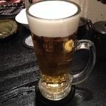 浩太郎丸 - ビール注ぎマイスターみたいな人が入れてくれた