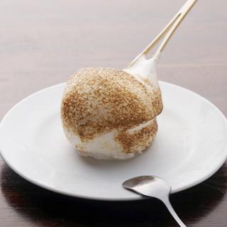 アイスクリーム竹串焼