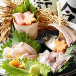 庵JUJU - 料理写真:地産地消!・・・尾鷲直送の新鮮な魚を仕入れてお出しいたしております。