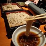 蕎麦 酒肴 京鴨 椿 - 鴨鍋の汁で鴨せいろ