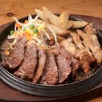 テキサスキングステーキ - コンボB(ステーキ+チキンステーキ)