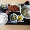 そば平 - 料理写真:そば定食(830円)~メンチカツ