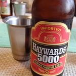 南インド家庭料理 カルナータカー - '13.8.「HAYWARDS5000」というインドのビール