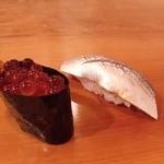 寿司じんかく - イクラ、コハダ