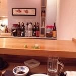 寿司じんかく - カウンター席