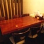 らぁ麺屋 大明神 - 内観写真:テーブル席