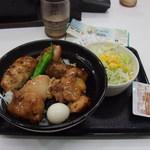 吉野家 - 焼鳥つくね丼(大盛)+生野菜サラダ