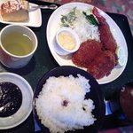 22592535 - ミックス定食(A)1350円 エビフライとヒレカツ