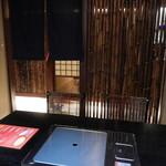 焼肉 迅 - 店内の雰囲気(個室)