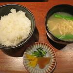 蔵人 - ご飯、味噌汁、漬物