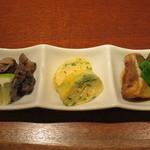 蔵人 - 前菜3種