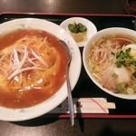 周礼 - 天津丼+半ラーメンセット\800