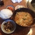 ソウルハウス - 今日のランチ。韓国式ラーメン(^O^)/。