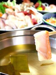 串焼き・魚 新宿宮川 - 人和風ダシでしゃぶしゃぶ鍋コース♪