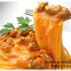 生パスタ専門店センプレ - 料理写真:自慢のミートソースと濃厚カルボナーラの2つの味が一皿で楽しめる!名物【世田谷ミートカルボ】