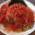 山嵐 本店 - ネギダク赤スープ