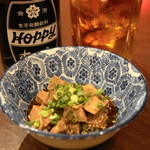 せい太 - 2013.11 お通しの茹でレバーぽん酢