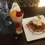 カオカフェイシカワ - 大人のフルーツパフェと、自家製アップルパイ