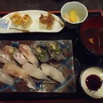 権五郎 - 地魚の握り寿司1,470円